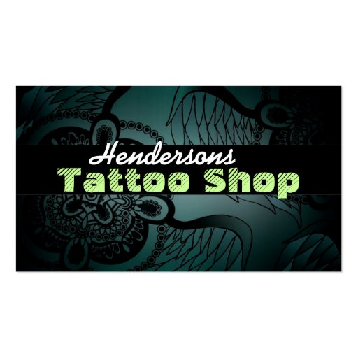 Tattoo shop business cards zazzle for Business card size tattoos