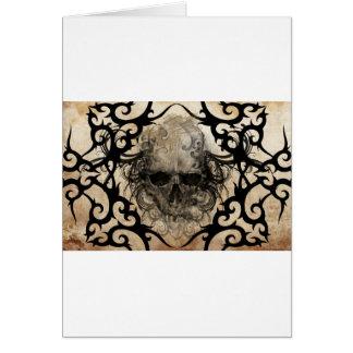tattoo skull card