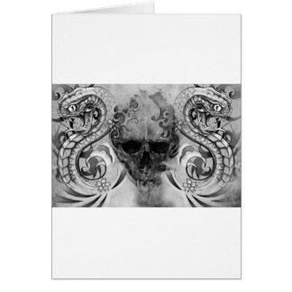 tattoo skull cards