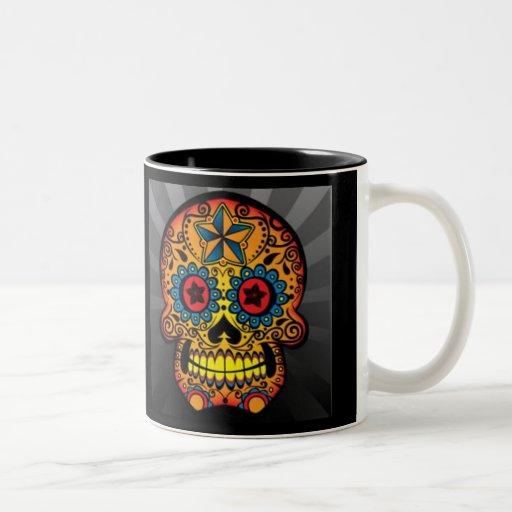 tattoo skull coffee mug zazzle. Black Bedroom Furniture Sets. Home Design Ideas