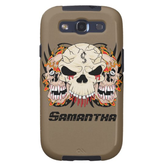 Tattoo Skull Eight Ball Flame Samsung Galaxy Case