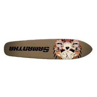 Tattoo Skull Eight Ball Old School Skateboard