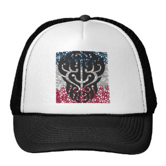 Tattoo Skull in Peace Sign Mesh Hat