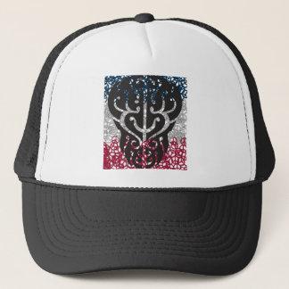 Tattoo Skull in Peace Sign Trucker Hat