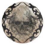 tattoo skull party plates