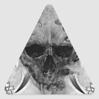 tattoo skull pegatinas trianguloes