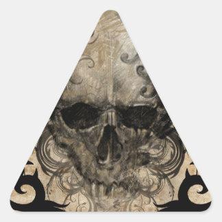 tattoo skull pegatinas de triangulo