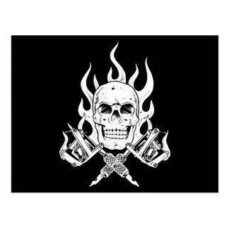 Tattoo Skull Postcard