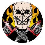 Tattoo Skull Round Wall Clock