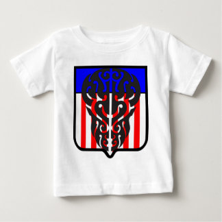 Tattoo Skull Shield In US Color Baby T-Shirt