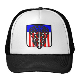 Tattoo Skull Shield In US Color Hat