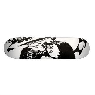 Tattoo Skull Skateboard
