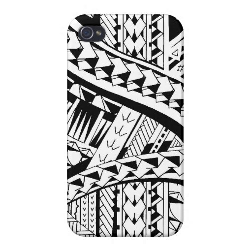 Tattoo style case with Samoan inspired patterns Case For iPhone 4