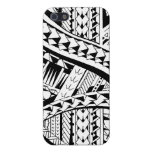 Tattoo style case with Samoan inspired patterns iPhone 5 Covers