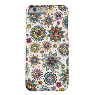 Tattoo Style Flower Doodle Pattern Barely There iPhone 6 Case
