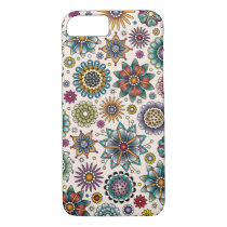 Tattoo Style Flower Doodle Pattern iPhone 8/7 Case