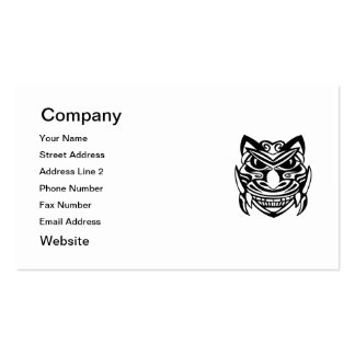 Tattoo Style Mask 1 Business Card