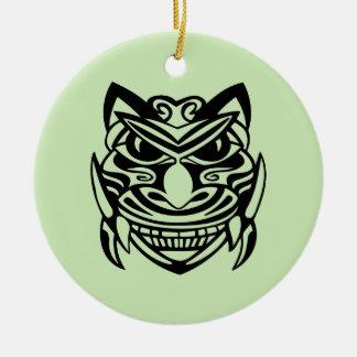 Tattoo Style Mask 1 Ceramic Ornament