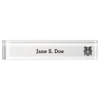 Tattoo Style Mask 1 Desk Name Plates