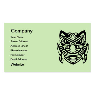 Tattoo Style Mask 1 Double-Sided Standard Business Cards (Pack Of 100)