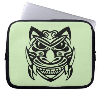 Tattoo Style Mask 1 Laptop Computer Sleeve