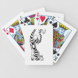 Tattoo style tiger design playing cards