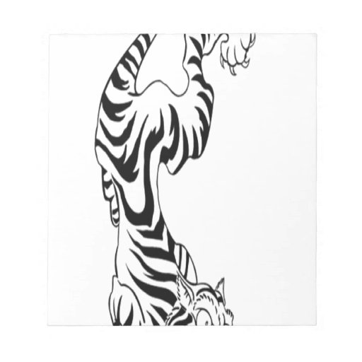 tattoo style tiger design scratch pads zazzle. Black Bedroom Furniture Sets. Home Design Ideas