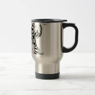 Tattoo style tiger design travel mug