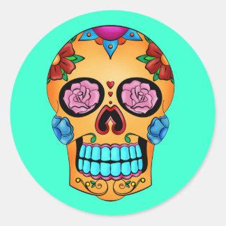 Tattoo Sugar Skull Classic Round Sticker