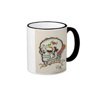 Tattoo sugar skull mug