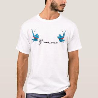 Tattoo Swallow Birds Groomsman Tshirt