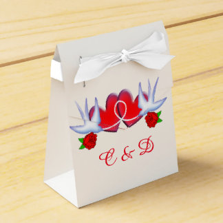 Tattoo Swallow Hearts And Roses Design Favor Box