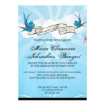 Tattoo Swallows and Scroll Bridal Shower Invite