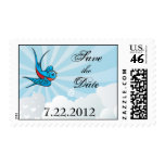 Tattoo Swallows and Scroll Urban Save the date Car Postage Stamps