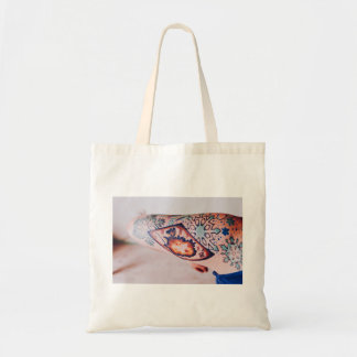 Tattoo Themed, Gypsy Inspired Snowflakes Tatto Bod Tote Bag