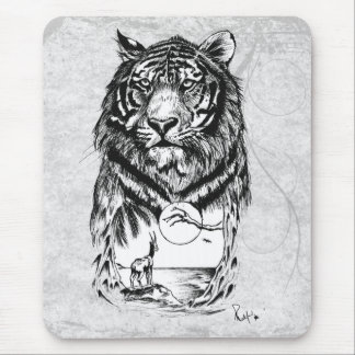 Tattoo Tiger Mouse Pad