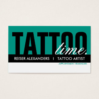 tattoo time appointment card