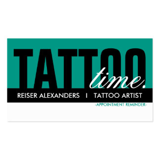 tattoo time appointment card business card