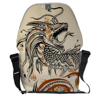 Tattoo Tribal Henna Dragon Bag