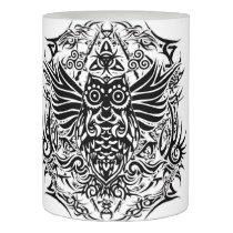 Tattoo tribal owl flameless candle