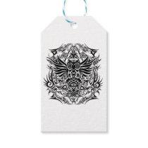 Tattoo tribal owl gift tags