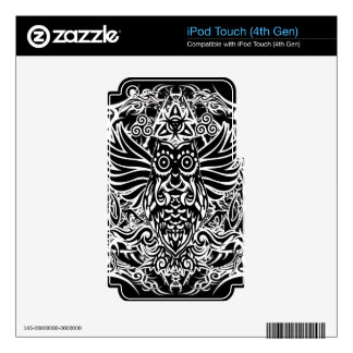 Tattoo tribal owl iPod touch 4G skins