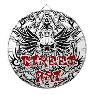 Tattoo tribal street art dart board