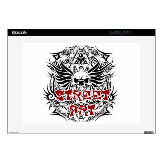 "Tattoo tribal street art decals for 15"" laptops"