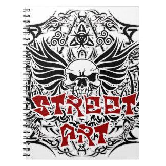 Tattoo tribal street art notebook