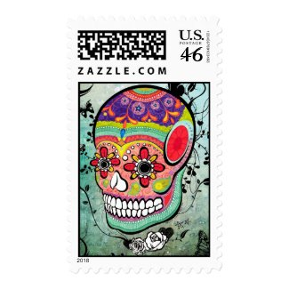 Tattoo Urban Muerte Day of the Dead Illustration stamp