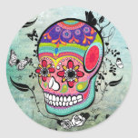 Tattoo Urban Muerte Day of the Dead. Round Stickers