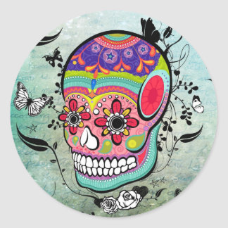 Tattoo Urban Muerte Day of the Dead. Classic Round Sticker