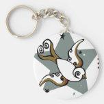 Tattoo Urban Swallow Bird Design Key Chains