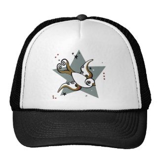 Tattoo Urban Swallow Bird Design Trucker Hat